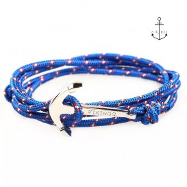 PULSERA ANCHOR CORDON AZUL