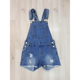 PETO DENIM CORTO