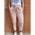 Pantalón rosa lazo