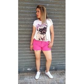 short rosa fucsia