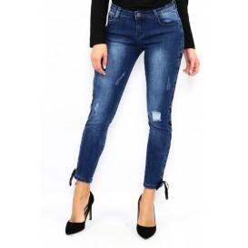 jeans trenzado
