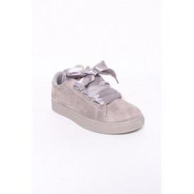 sneakers brillantes gris