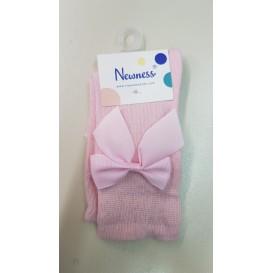 calcetin rosa lazo bebe