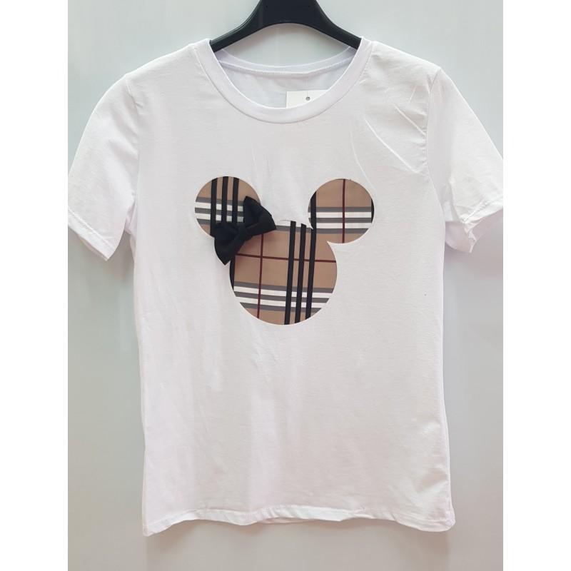c9d53f76d38bd Beig Cuadros Lazo Camiseta Minnie Y F4aHHB
